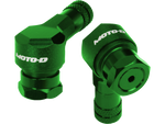 MOTO-D Angled Motorcycle Valve Stems 11.3MM - Green