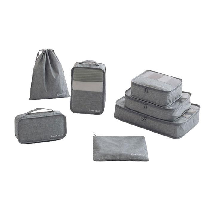 7 Piece Packing Cube Luggage Organizer Bag