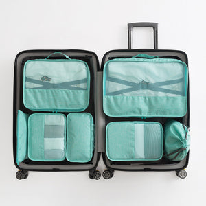 Green Packing Cube Luggage Organizer Bag