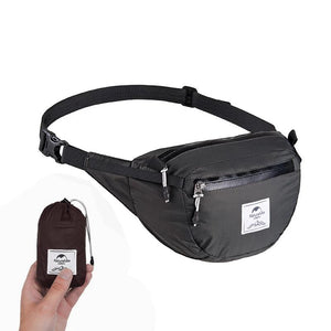 Black Foldable Fanny Pack Waist Bag