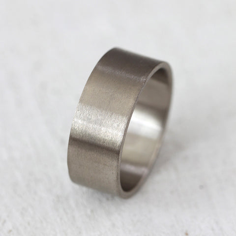 Men's solid gold wide wedding band