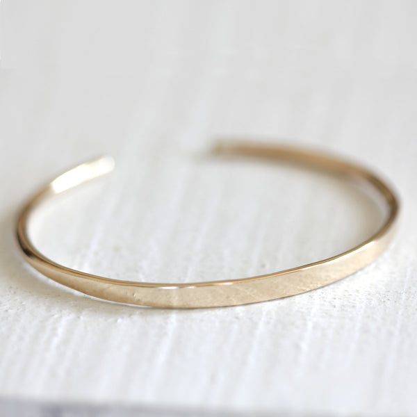 14k and 18k solid gold bracelet cuff with personalization