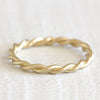18k gold twisted wire rope ring