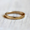 Hammered ring 14k gold