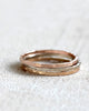 Solid 14k gold stacking rings white gold, yellow gold, rose gold - Set of 3 rings