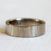 Wide 14k Gold Tree Bark Wedding Ring