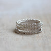 Bead wire stacking rings
