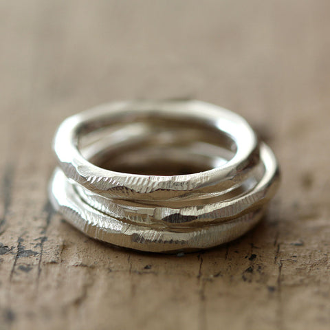 Distressed stacking rings