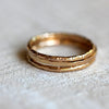 Solid gold stacking rings