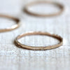 14k solid yellow gold hammered ring