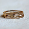 Unique stacking rings - 14k gold stacking rings
