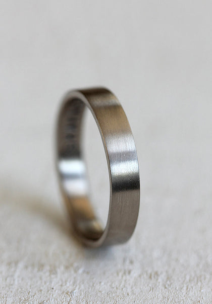 14k gold inner message wedding band