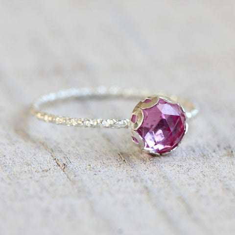 Sapphire gemstone ring pink gemstone ring