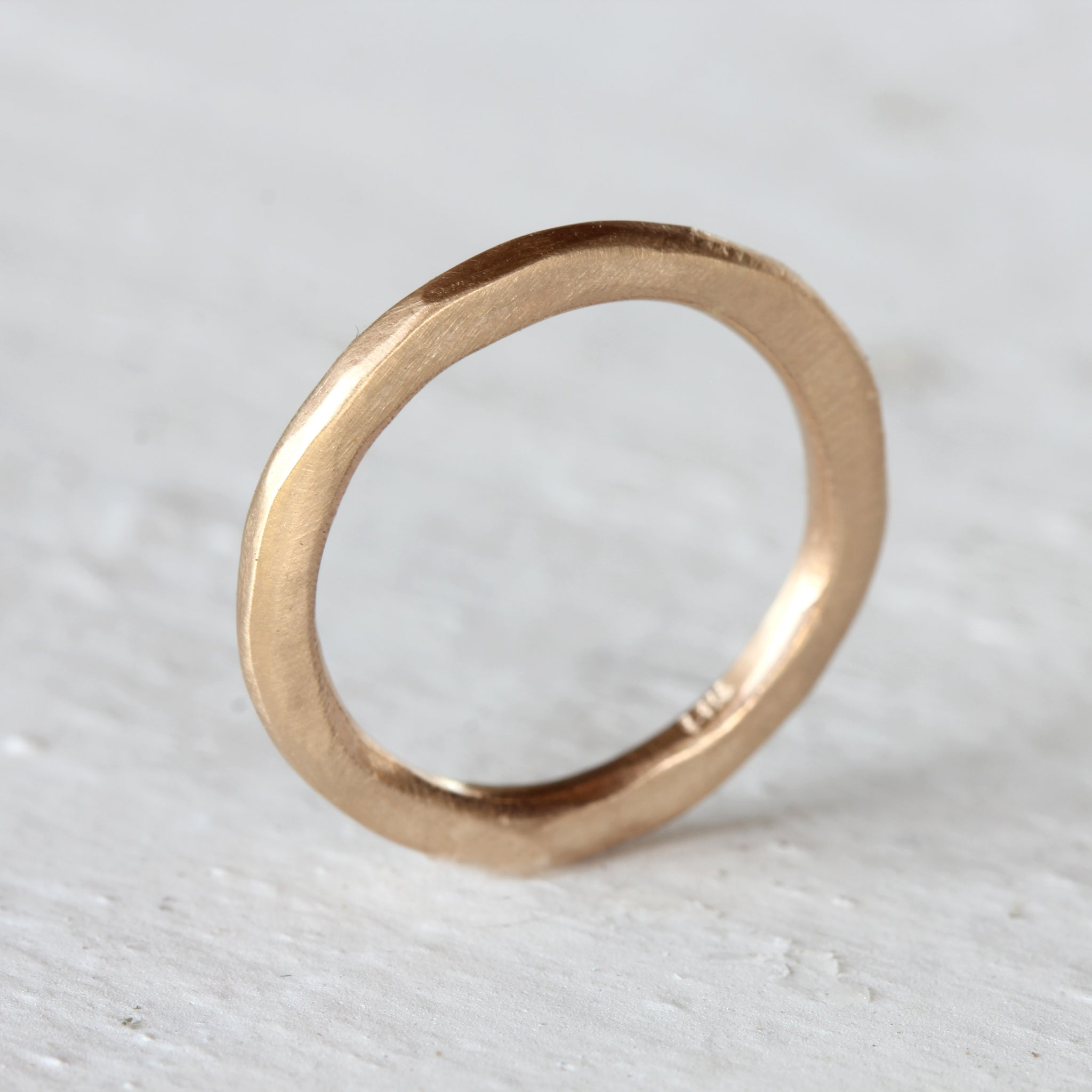 Rustic Solid Gold Ring