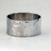 Hammered Wide Band Wedding Ring