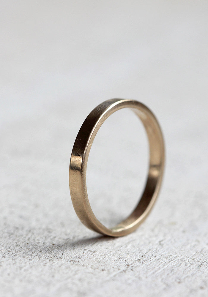 gold wedding ring 14k gold womans simple wedding band - Simple Wedding Ring