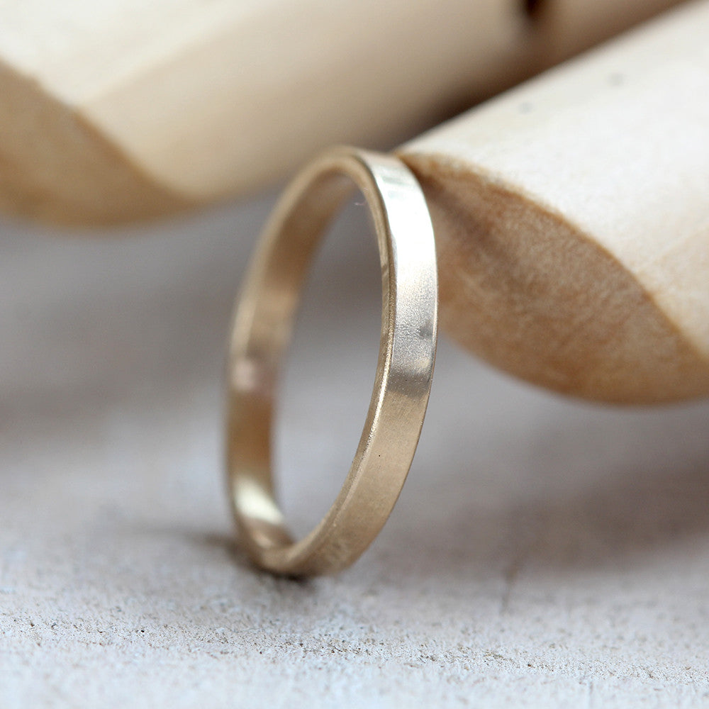 band bands etsy wide set gold minimalist wedding via half in the pin thin and round yellow rings