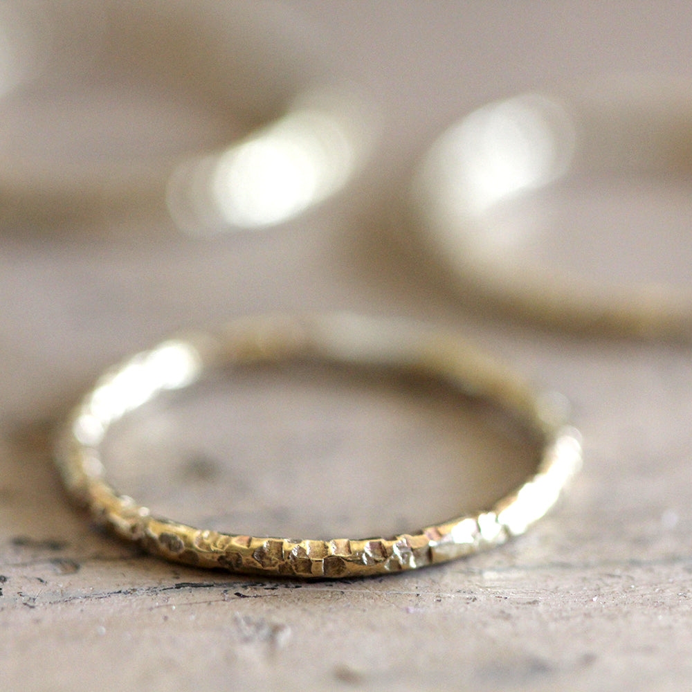 14k Gold Textured Ring
