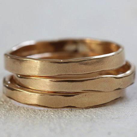 Organic shaped 14k gold ring