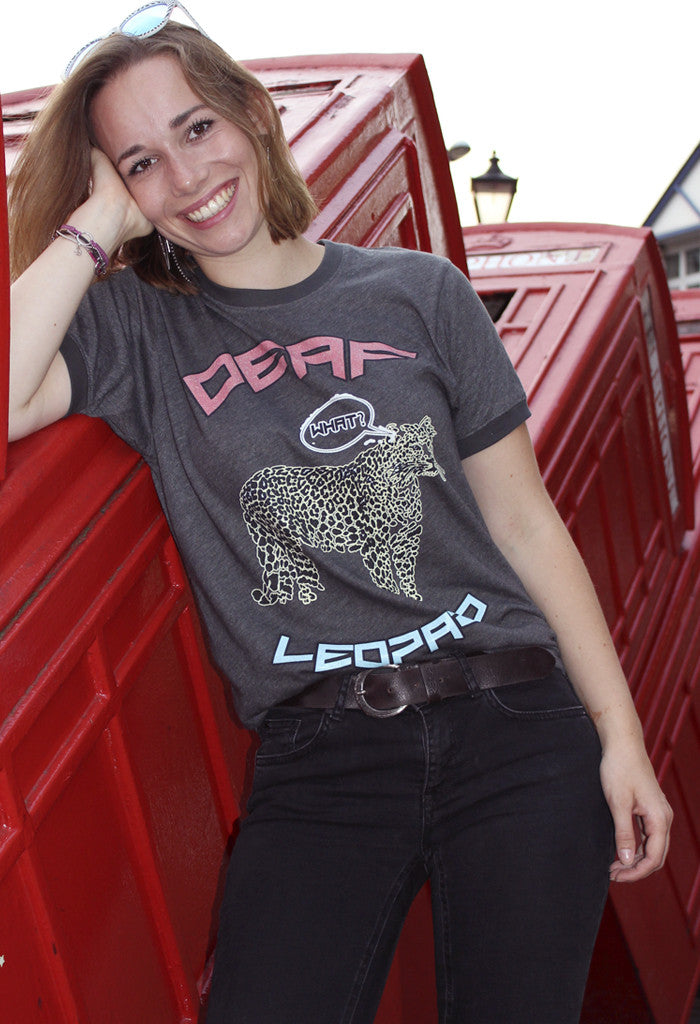 Deaf Leopard Rock on Tee