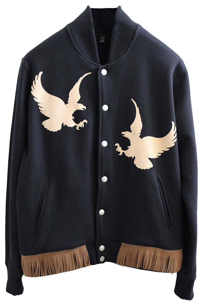 Eagle Fringed Varsity Jacket