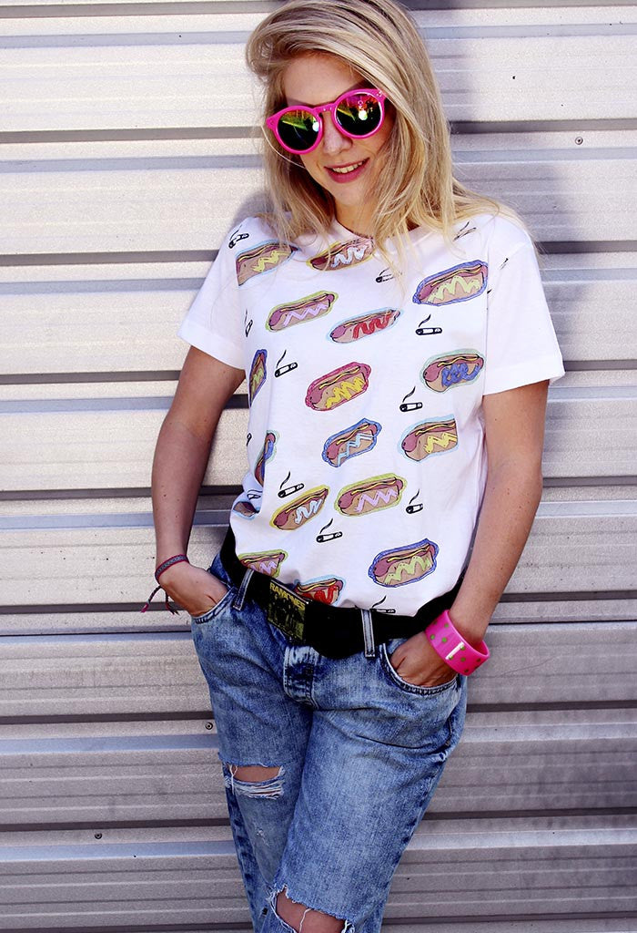 Hotdogs And Cigarrettes Tee