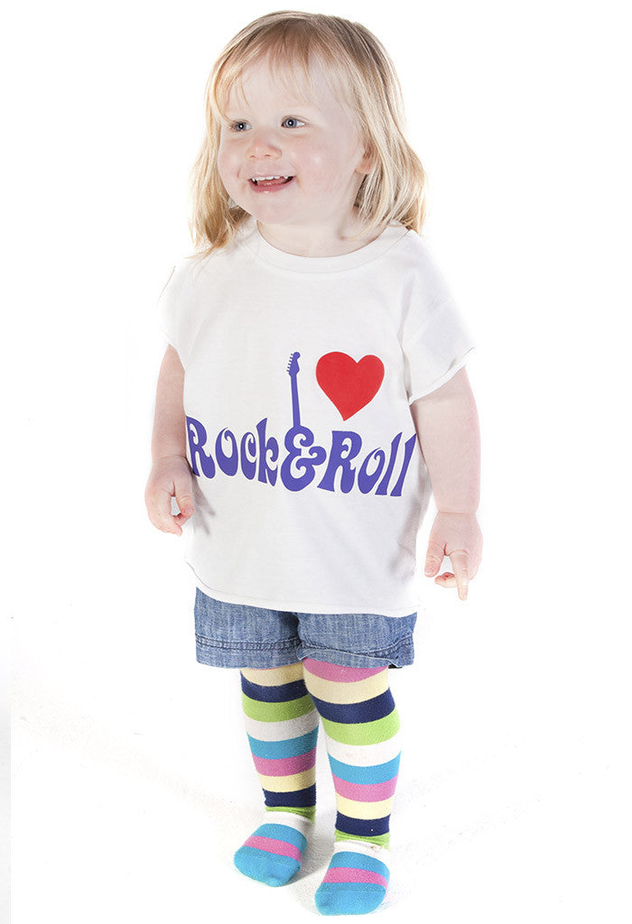 I Heart Rock & Roll Crop Tee