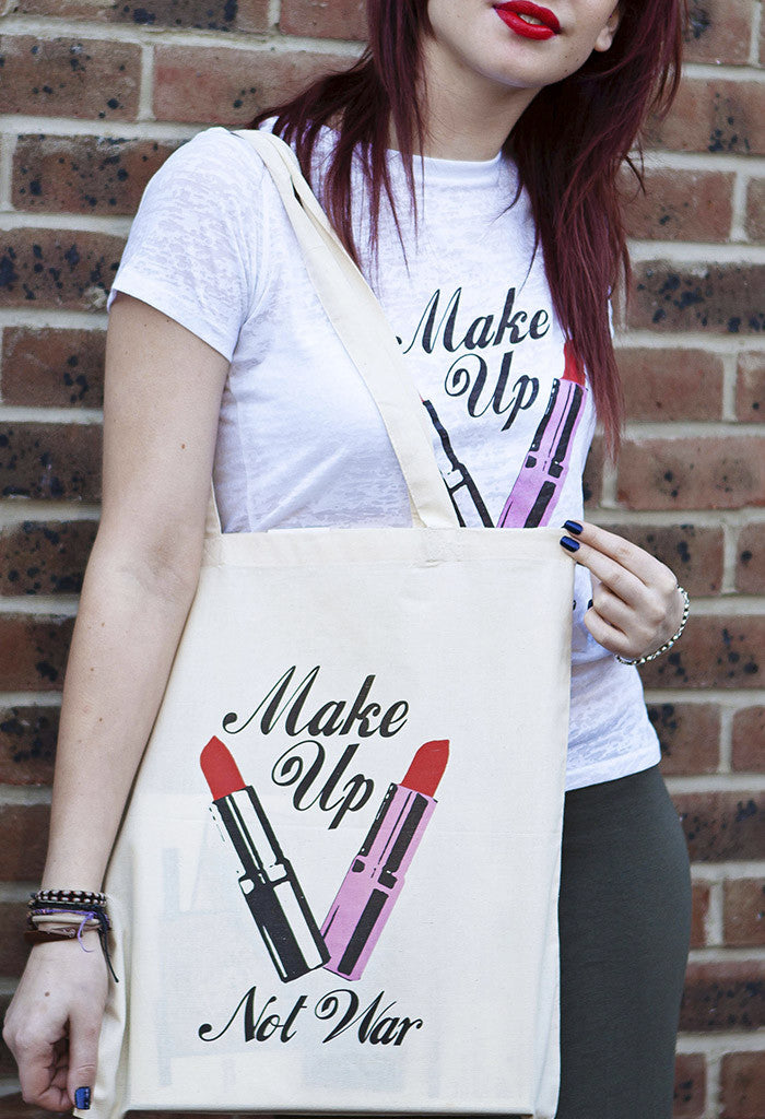 Make Up Not War Tote