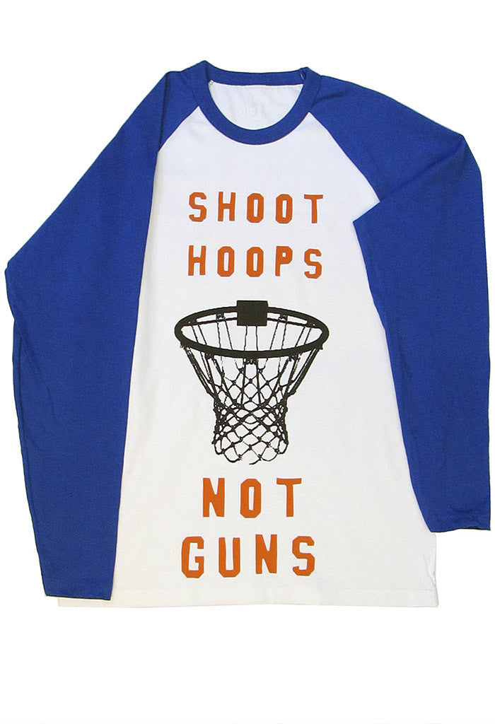Shoot Hoops Not Guns Tee