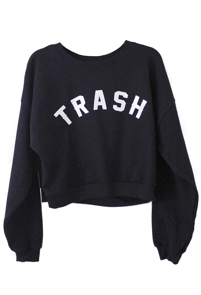 TRASH cropped Sweatshirt