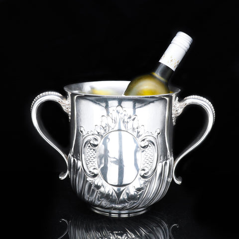Antique Sterling Silver Wine Cooler - Howard & Co 1891