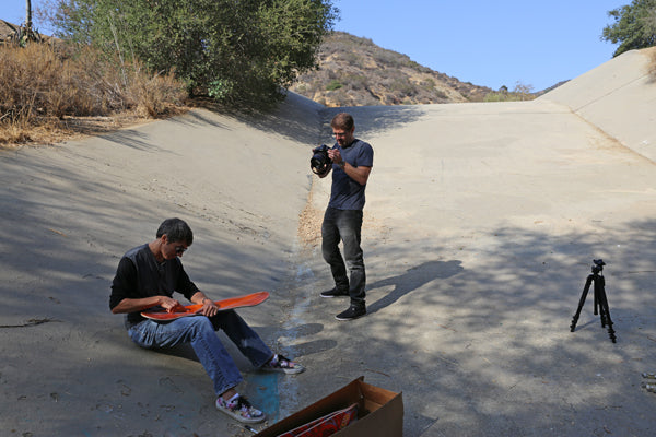 Interview Sean Cliver at the famous Jousting skate ditch from the movie Thrashin'