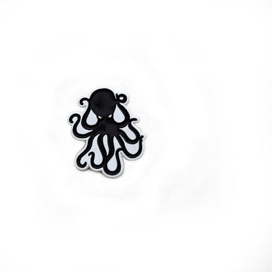 Octopus Enamel Pin - Black