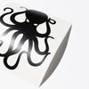 "4"" Black Vinyl Octopus Sticker"