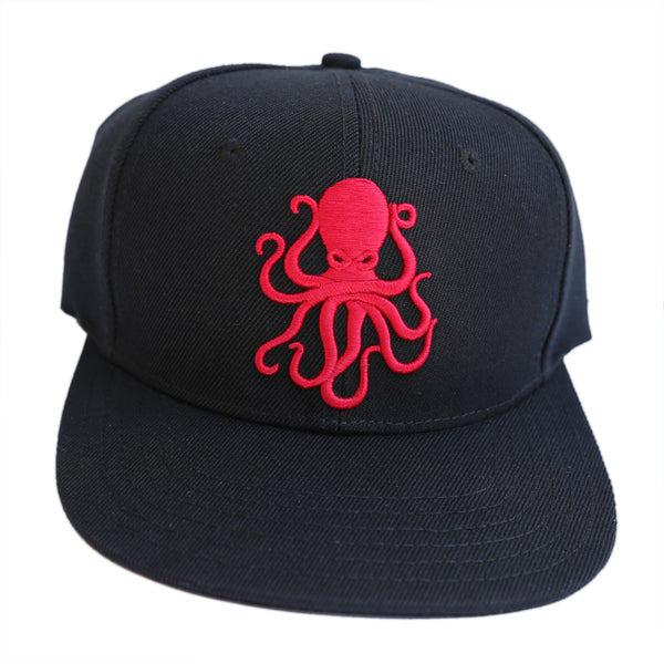 Octopus Black w/Red - Snap Back