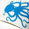 "4"" Cyan Vinyl Octopus Sticker"