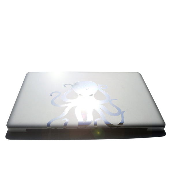 "8"" Chrome Vinyl Octopus Sticker"