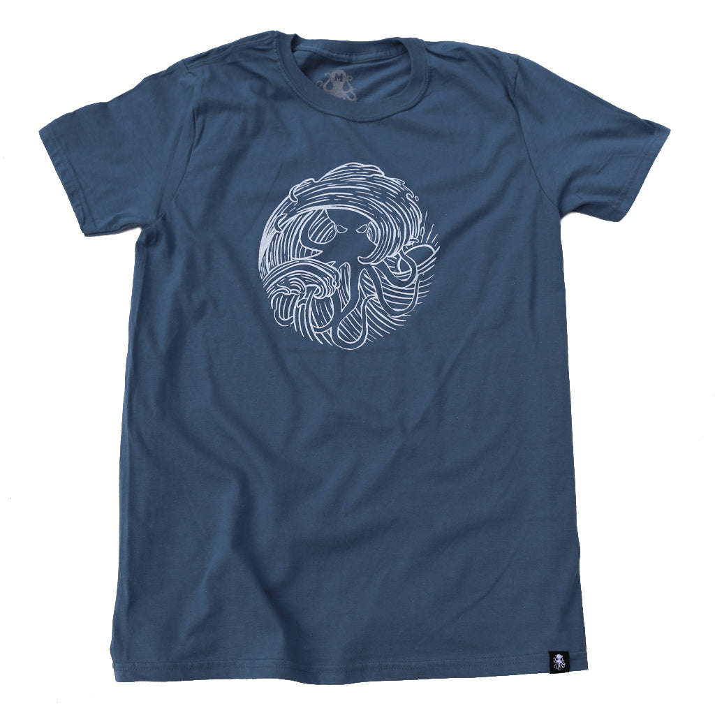 WAVE Tee Indigo Blue