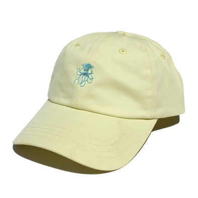 Octopus Yellow w/Teal- Dad Hat