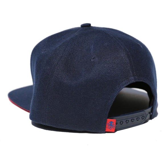 Octopus Navy w/Red - Snap Back