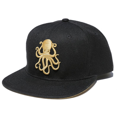 Octopus Black w/Gold - Snap Back