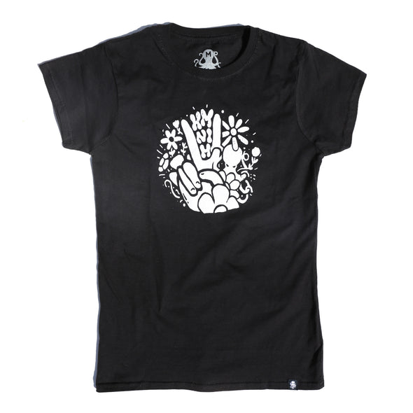 PEACE Women's Tee BLACK