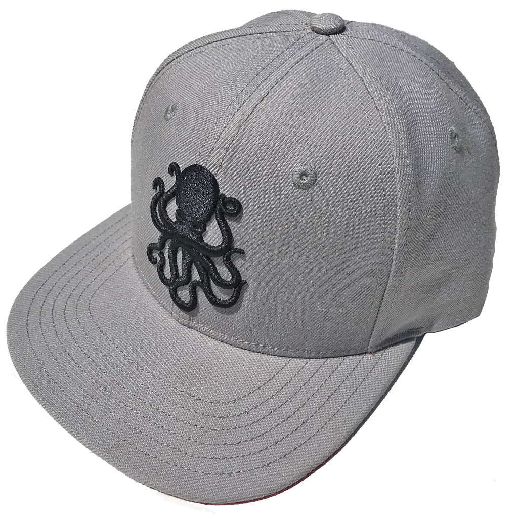 Octopus Gray w/Red - Snap Back