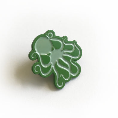 Octopus Enamel Pin - Green/Lt. Green