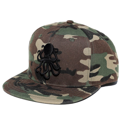 Octopus Camo w/Black - Snap Back