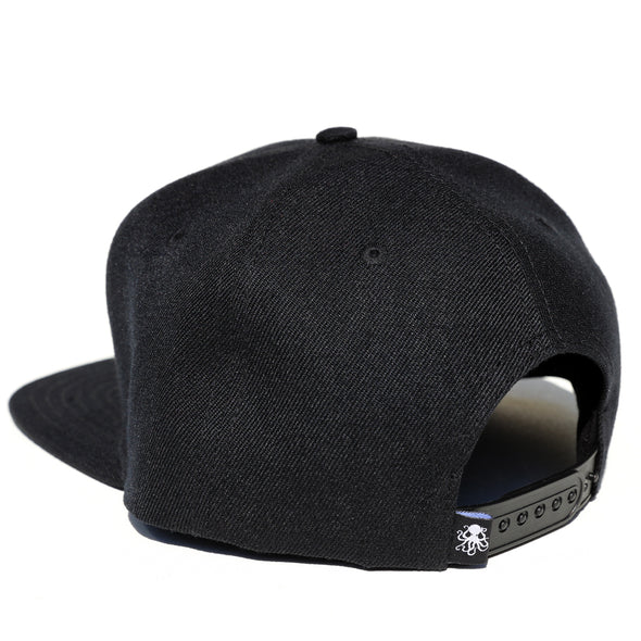 Octopus Black w/Black - Snap Back