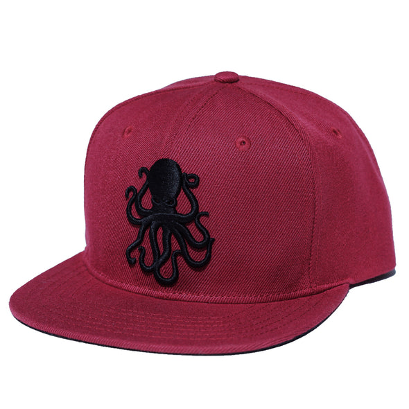 Octopus Maroon w/Black - Snap Back