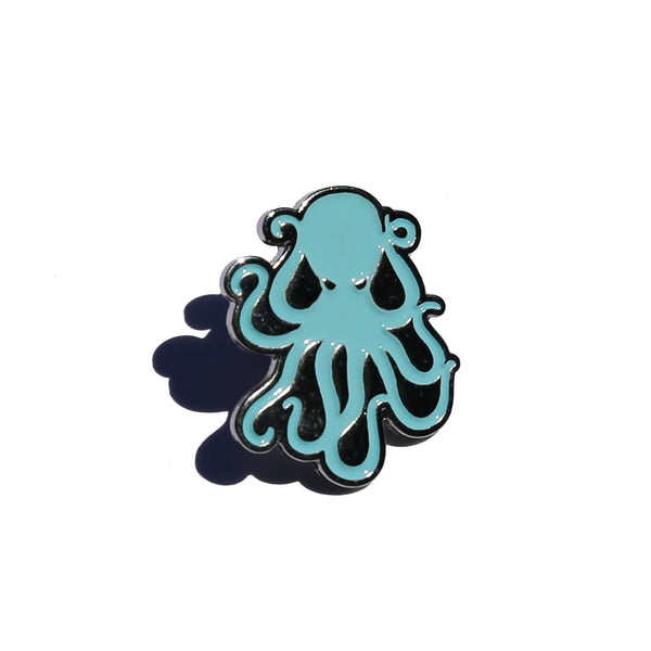 Octopus Enamel Pin - Lt. Blue