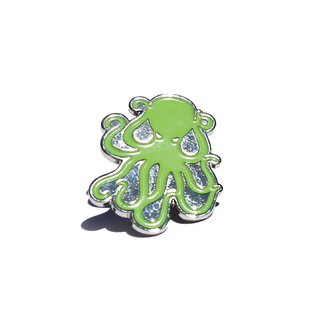 Octopus Enamel Pin - Green