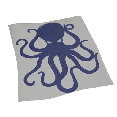 "8"" Navy Vinyl Octopus Sticker"